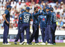 Moeen Ali claimed two wickets in his opening over, England v Australia, 5th ODI, Old Trafford, June 24, 2018