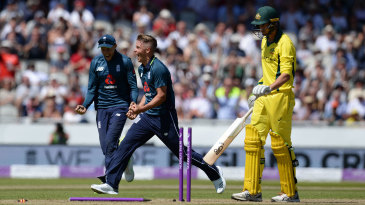 Sam Curran collected his first ODI wickets