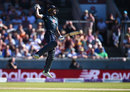 Jos Buttler jumps for joy after the winning hit, England v Australia, 5th ODI, Old Trafford, June 24, 2018