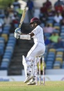 Shane Dowrich pulls the ball during his knock. West Indies v Sri Lanka, 3rd Test, Bridgetown, 2nd day, June 24, 2018