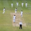 Suranga Lakmal sends back Devon Smith. West Indies v Sri Lanka, 3rd Test, Bridgetown, 3rd day, June 25, 2018