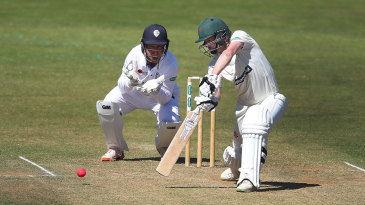 Paul Horton drives on his way to a valuable half-century