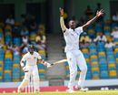 Jason Holder had Kusal Mendis lbw in the first over of the day, West Indies v Sri Lanka, 3rd Test, Barbados, 5th day, June 26, 2018