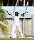 Kusal Perera exults after Sri Lanka complete their series-levelling win, West Indies v Sri Lanka, 3rd Test, Barbados, 5th day, June 26, 2018