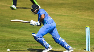 Rohit Sharma works the ball into the leg side