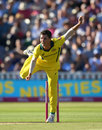 Mitchell Swepson bowls for Australia, England v Australia, only T20I, Edgbaston, June 27, 2018