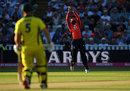 Moeen Ali times his jump to catch D'Arcy Short, England v Australia, only T20I, Edgbaston, June 27, 2018