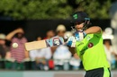 James Shannon shapes to pull. Ireland v India, 1st T20I, Malahide, June 27, 2018