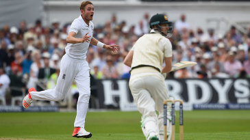 Stuart Broad's 8 for 15 at Trent Bridge in 2015 against Australia is one of five post-2001 spells to make it to the top 25 Test bowling performances
