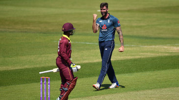 Reece Topley finished with career-best one-day figures