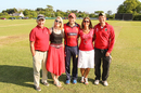 Jim Perchard (first from left) with his family at Farmers Field, Jersey