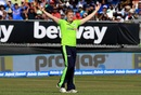 Kevin O'Brien celebrates a wicket, Ireland v India, 2nd T20I, Dublin, June 29, 2018