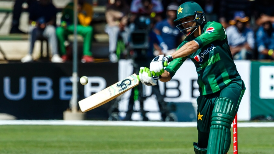 Shoaib Malik hits through the covers