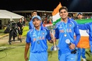 Prithvi Shaw and Shubman Gill after India's Under-19 World Cup win, February 3, 2018, Tauranga, New Zealand