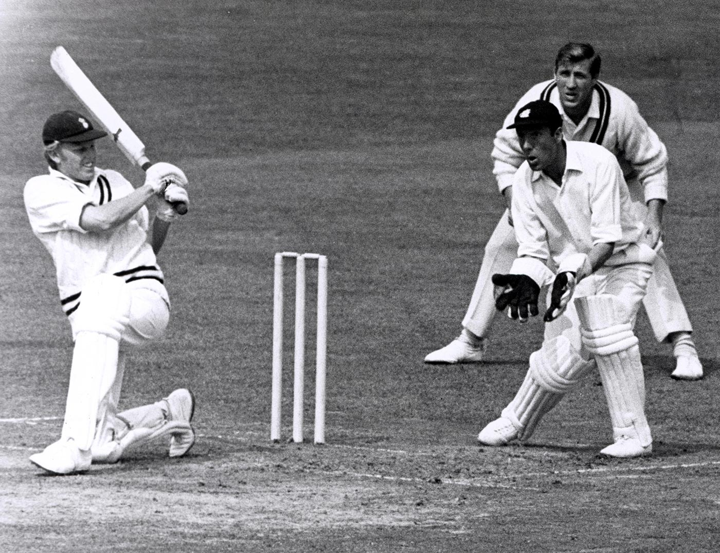 Barry Richards bats during his 82 against Middlesex at Lord's in August