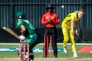 Billy Stanlake bowls against Pakistan, Australia v Pakistan, T20I tri-series second match, Harare, July 2, 2018