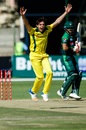Jhye Richardson roars out an appeal, Australia v Pakistan, T20I tri-series second match, Harare, July 2, 2018