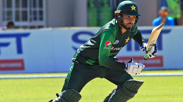 Faheem Ashraf sets off for a run