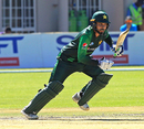 Faheem Ashraf sets off for a run, Australia v Pakistan, T20I tri-series second match, Harare, July 2, 2018