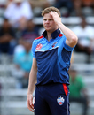 Steven Smith reacts while bowling, Canada GLT20, July 2, 2018