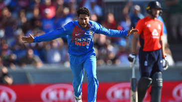 Kuldeep Yadav is delighted upon claiming a five-for