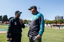 Lalchand Rajput and Mickey Arthur in conversation, Zimbabwe v Pakistan, Zimbabwe T20I tri-series, Harare