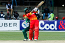 Solomon Mire muscles one over the leg side, Zimbabwe v Pakistan, Zimbabwe T20I tri-series, Harare