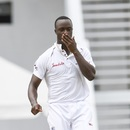 Oh my Roach: Kemar reacts to his five-wicket haul, West Indies v Bangladesh, 1st Test, North Sound, 1st day, July 4, 2018
