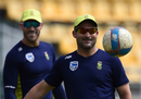 Dean Elgar practices ahead of South Africa's warm-up game, Colombo, July 5, 2018