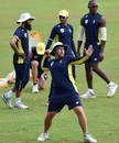 Shaun von Berg throws the ball during training, Colombo, July 5, 2018