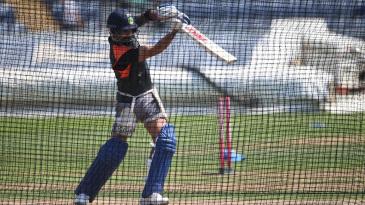 Virat Kohli bats in the nets