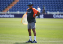 India's coach Ravi Shastri at a practice session, Cardiff, July 5, 2018