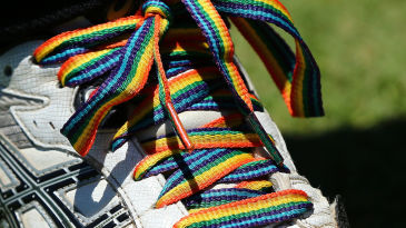 The rainbow laces campaign is increasingly established in cricket