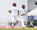 Kraigg Brathwaite and Devendra Bishoo run between the wickets, West Indies v Bangladesh, 1st Test, North Sound, 2nd day, July 5, 2018