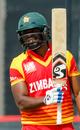 Solomon Mire celebrates his half-century, Australia v Zimbabwe, Zimbabwe tri-series, Harare, July 6, 2018