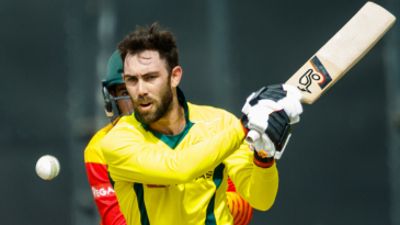 Glenn Maxwell shapes to play the ball