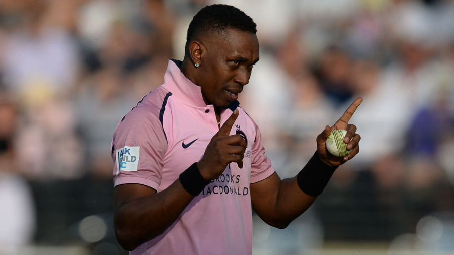 Dwayne Bravo adds to his collection of T20 shirts