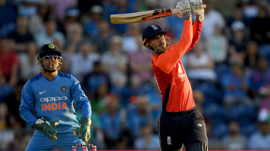 Alex Hales' unbeaten 58 not out steered England to victory