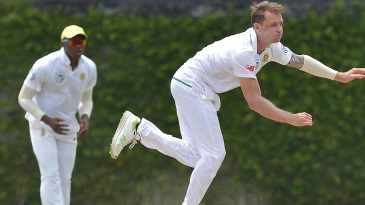 Dale Steyn had a long workout under the Colombo sun