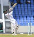 Nurul Hasan uppercuts during his defiant 64, West Indies v Bangladesh, 1st Test, North Sound, 2nd day, July 6, 2018