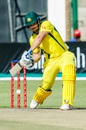 Aaron Finch played an aggressive knock at the top of the order, Australia v Pakistan, Zimbabwe tri-series final, Harare, July 8, 2018