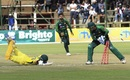 D'Arcy Short survives a run out, Australia v Pakistan, Zimbabwe tri-series final, Harare, July 8, 2018