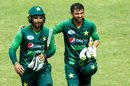 Shoaib Malik and Asif Ali celebrate Pakistan's win, Australia v Pakistan, Zimbabwe tri-series final, Harare, July 8, 2018