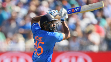 Rohit Sharma lifts one over covers