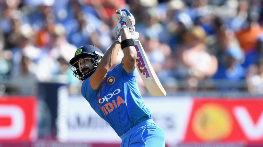 Virat Kohli sends one into the stands
