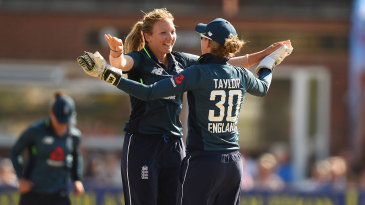 Katie George claimed early wickets for England