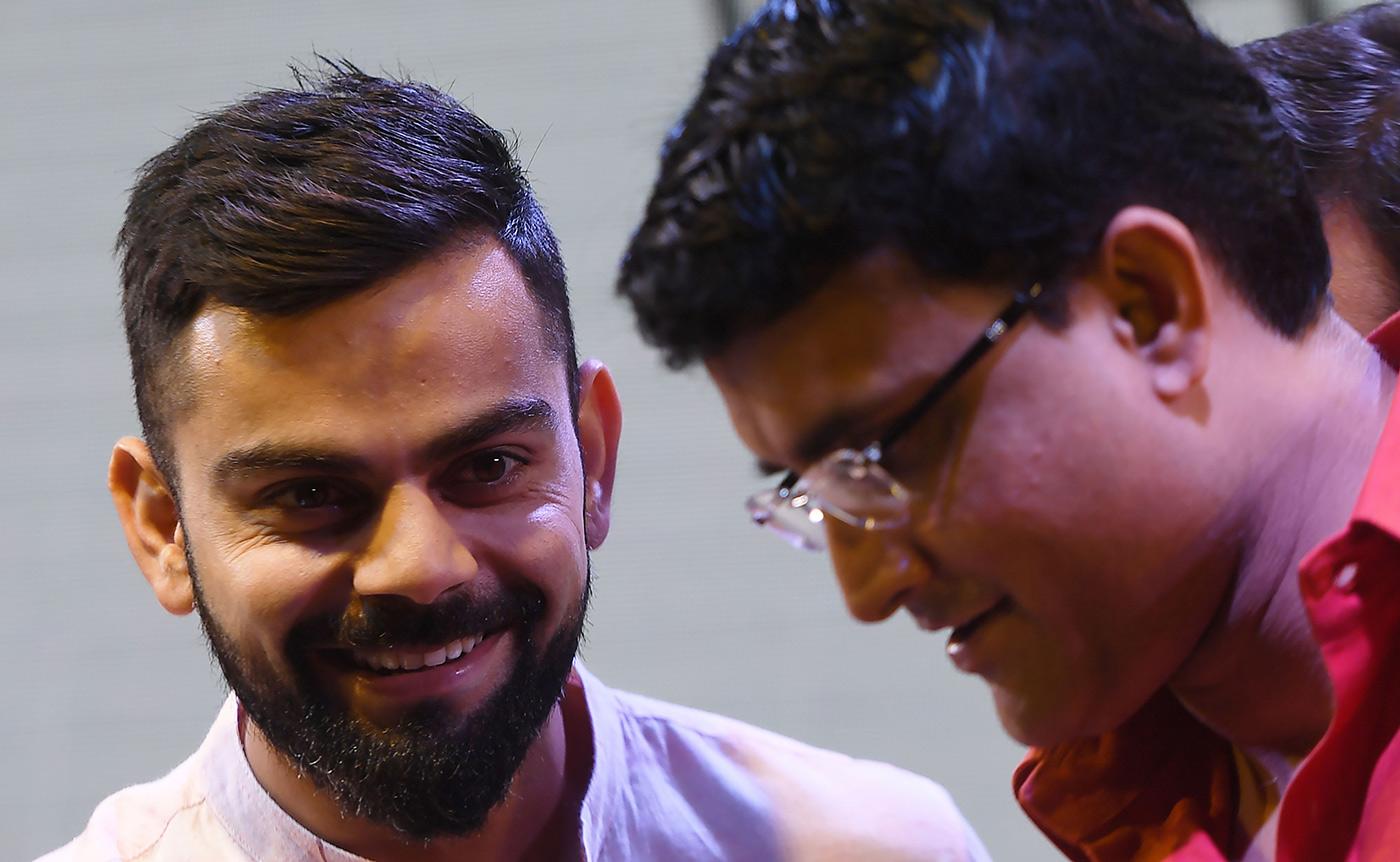 Virat Kohli and Sourav Ganguly at an event