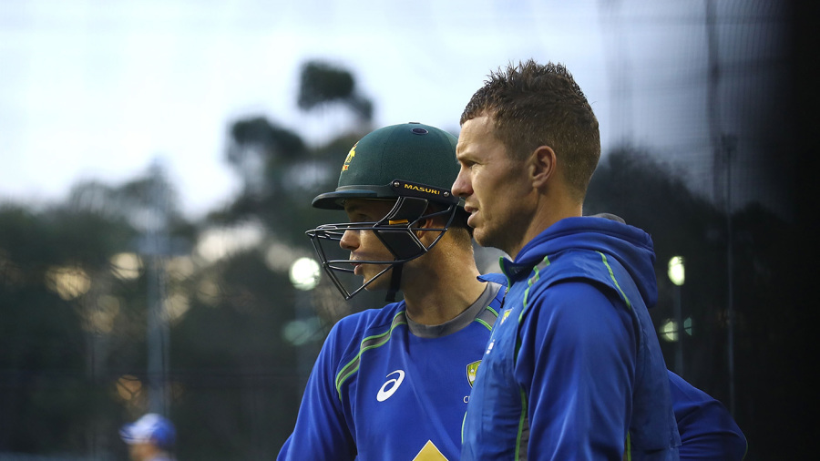Peter Handscomb and Peter Siddle