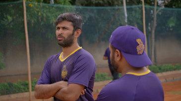 Academy head coach Abhishek Nayar observes proceedings
