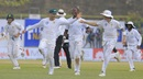 Aiden Markram, Faf du Plessis, Kagiso Rabada and Dale Steyn run towards pavilion as the rain comes down, Sri Lanka v South Africa, 1st Test, Galle, 1st day, July 12, 2018